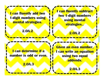 Second Grade Common Core I can Statements