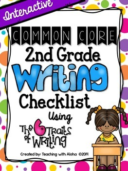 Second Grade Common Core Interactive Writing Checklist