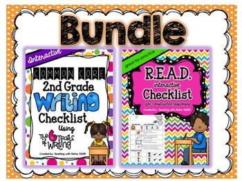 Second Grade Common Core Interactive Writing and R.E.A.D. Checklists Bundle