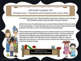 2nd Grade Common Core Language Arts Checklists and Drop Down Lesson Plans