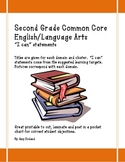 "Second Grade Common Core Language Arts ""I Can"" Statement Cards"