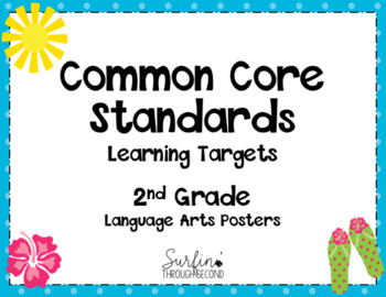 Second Grade Common Core Language Arts  Standards Posters-Tropical