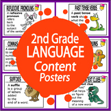 2nd Grade LANGUAGE Content Posters (14 FULL COLOR 2nd Grade ELA Posters!)