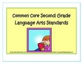 Second Grade Common Core Language Standards