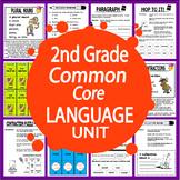 2nd Grade LANGUAGE Unit (Posters, Games, + 14 Second Grade Grammar Lessons)