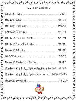 Second Grade Common Core Math-2.NBT. 1 and 3-Place Value