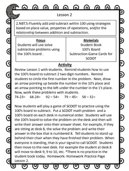 Second Grade Common Core Math-2.NBT.5-Subtraction Strategies