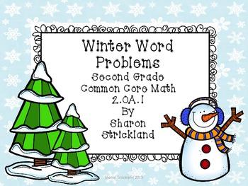 Second Grade Common Core Math-2.OA.1-January/Winter Word Problems