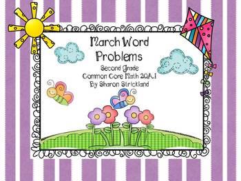 Second Grade Common Core Math-2.OA.1-March Word Problems