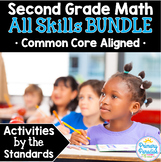 Second Grade Math Skills BUNDLE: Activities by the Standards ALL 2nd Gr Skills