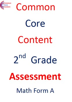 2nd Grade Common Core Math Assessment Package 2  Tests Form A and B Second Grade