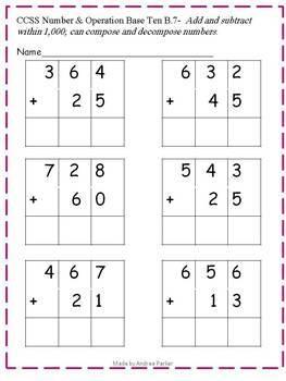 Second Grade Common Core Math Assessments