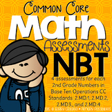 Second Grade Common Core Math Assessments 2.NBT.1-4