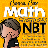 Second Grade Common Core Math Assessments 2.NBT.5 - 2.NBT.9