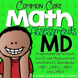 Second Grade Common Core Math Assessments Measurment & Data: 2.MD.1 - 2.MD.4