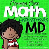 Second Grade Common Core Math Assessments Measurment & Data: 2.MD.5, 6, 9 & 10