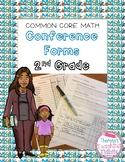 Common Core Math Conference Forms Second Grade