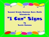 "Second Grade Common Core Math ""I Can"" Signs and Blank Templates"