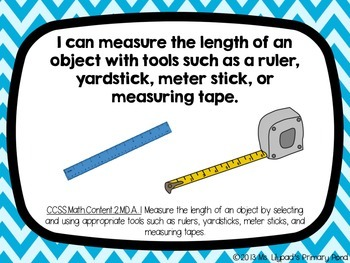 """Common Core """"I Can"""" Statements Posters for Second Grade {Math}"""
