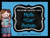 "Common Core ""I Can"" Statements Posters for Second Grade {Math}"