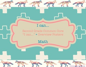 """Second Grade Common Core Math """"I can..."""" Posters, Tribal/F"""