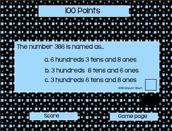 Second Grade Common Core Math Jeopardy  Review Game