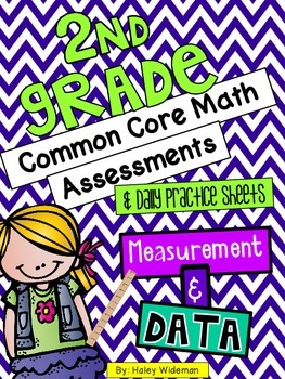 Second Grade Common Core Math (MD) Assessments, and Practice Sheets