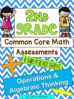 Second Grade Common Core Math (OA) Assessments, Practice Sheets, and Activities
