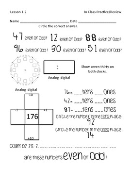 Second Grade Common Core Math Pack #2