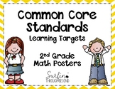 Second Grade Common Core / Learning Targets Math Posters -