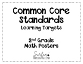 Second Grade Common Core Math Standard / Learning Target Posters - Plain