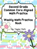 Second Grade Common Core Math Practice Book: April Edition