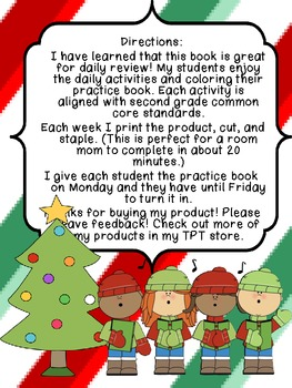 Second Grade Common Core Math Practice Book: December Edition