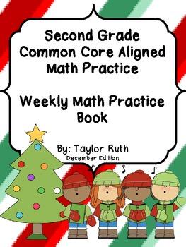Second Grade Common Core Math Practice Book: December Edition
