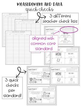 2nd Grade Common Core Math Quick Checks- Measurement and Data