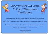 Second Grade Common Core Math Standards Mini-Posters Part 2