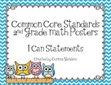 Second Grade Common Core Math Standards Posters-Owl Theme