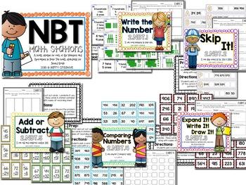 Second Grade Common Core Math Stations BUNDLE