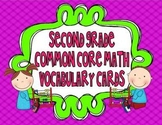 Second Grade Common Core Math Vocabulary Cards