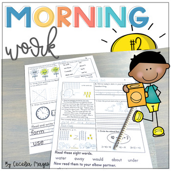 Second Grade *Common Core*  Math and ELA Morning Work 2nd Month of School