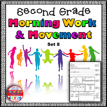 Second Grade Morning Work & Movement - Spiral Review or Homework - April Set 8