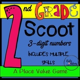 Scoot Game: Second Grade Common Core Place Value Review