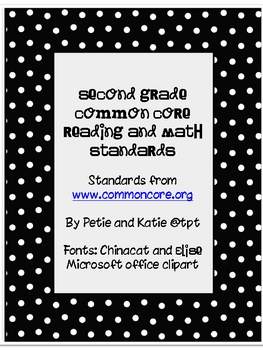 Second Grade Common Core Posters - Polka Dot!