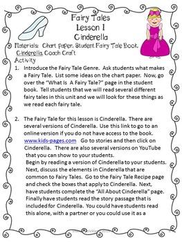 Second Grade Common Core Reading-Fairy Tale Unit