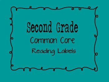 Second Grade Common Core Reading Standard Labels for File Folders