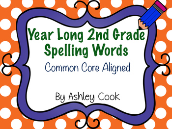 Second Grade Common Core Spelling Lists