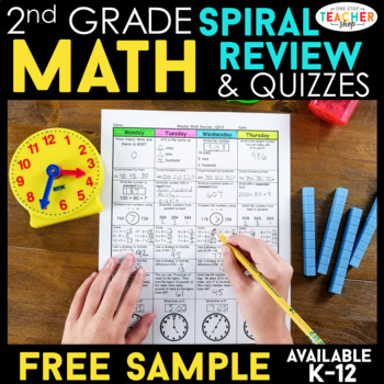 2nd Grade Math Spiral Review