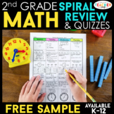 2nd Grade Math Spiral Review | 2 Weeks FREE