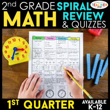 2nd Grade Math Review | Homework or Morning Work | 1st Quarter