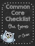 Second Grade Common Core Standard Checklist-OWLS!